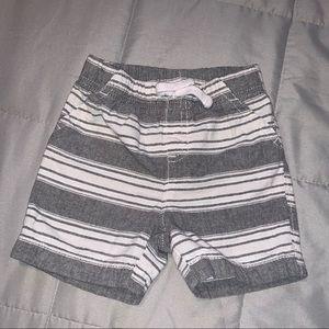 Grey stripe shorts